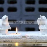2016 newest Ceramic white tea light porcelain candle holders wholesale