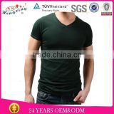 Wholesale blank V neck in stock t shirt