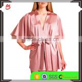 Wholesale new design plus pajamas satin dress blank plain short custom design satin Nighty robes women