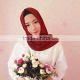 Muslim scarf pearl chiffon solid color long towel summer new national customs of the Hui multi-color
