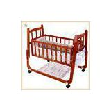 Red Handmade Wooden Baby Cribs Convertible Baby Bedroom Furniture