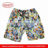 2016 summer fashion Microfiber beach wrap pants with pocket hot men swimwear