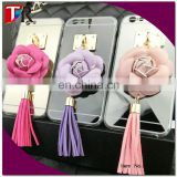wholesale DIY cell phone cover with artificial flower for Iphone