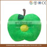 Factory making lovely cute plush baby toy apple cushion/pillow