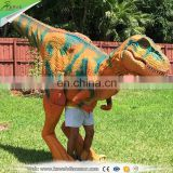 KAWAH Life Like Adult Realistic Walking Dinosaur Raptor Costume