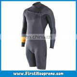Customize Service 2/3MM Premium Neoprene CR Men Long Sleeve Scuba Shorty Diving Suit