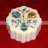 Colored Marble Inlay Jewellery Box