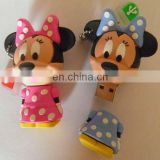 Funny cartoon mickey pvc usb flash memory stick