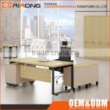 Customized director executive office table wooden 1.8m office computer laptop desk with cabinet
