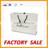 Custom cheap white paper shopping bag with logo print                                                                         Quality Choice