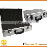 Smooth Silver Aluminum Case with Foam,Aluminum Flight storage box case