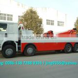 SINO HOWO 8*4 heavy duty rotator tow truck,60-80T wrecker towing truck with hydraulic control system