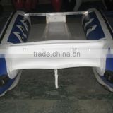 5 person aluminum floor stainless steel transom inflatable catamaran sports boats