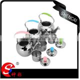 Metal Material Whistling Silver Kettle/ non-electric coffee& tea kettle/ samovar