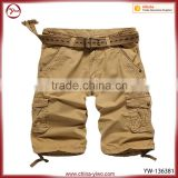 New style big pocket chino cargo boys khaki shorts