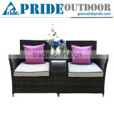 Classical New Design Outdoor Leisure Double Couple Cushions For Cheap Wicker Rattan Chair