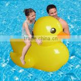 Inflatable rubber duck water floating rider