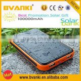 2015 trending hot products 100000mah dual usb portable solar cell power bank