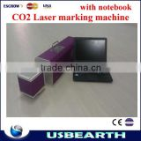 Top hot Portable 10W CO2 small laser marking cutting machine with notebook working for non-metal,non-PVC
