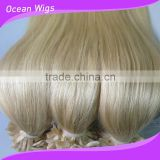 Best Selling In European Countries Wholesale I-tip,U-tip,Flat Tip Human Hair Extension For White Woman