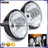 "Hot Waterproof Chrome LED Auxiliary 4-1/2"" Motorcycle Spot Fog Passing Light Lamp for Harley"