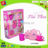 Tea time fashion girl pretend play toy tea play set for kids