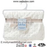 high quality white soft warm baby swaddle blanket