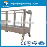 ZLP630 gondola 3*2 meters modular platform 8.3mm wire rope LS30 safety lock with CE Certificate