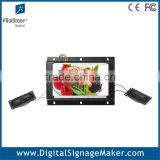 Flexible indoor 7 inch open frame LCD advertising screens/player/display/digital signage