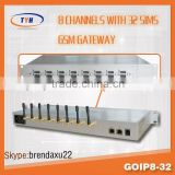 8 port 32 sim cards gsm/cdma/wcdma voip goip gsm gateway call termianl,cdma gsm android mobile phone