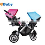 Twins baby stroller,single/double baby stroller Convertible,Single Stroller Footprint, Holds Double