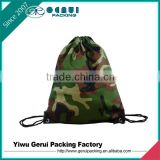 camouflage Polyester Material and Promotional Usage Promotional backpack bag/drawstring bag