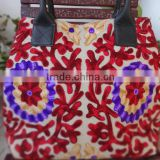 Designer Hand Bag, Suzani Embroidery Handmade Tote Bag, Boho Bag, Beach Accessorie, Women Shoulder Bag, Made In India