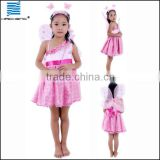 Halloween kids hot pink dress for performance