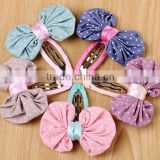 Adorable Polka Dot Bow Snap Hair Clips For Kids,Baby BB Clip For Hair                                                                         Quality Choice