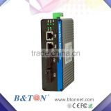 2+2 port 1000M industrial POE full gigabit ethernet switch 12v
