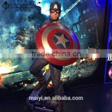 High simularity life Size fiberglass figure of popular character American Captain Silicone statue