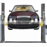 hydraulic car lift and reinfoced base plate ,drip in the arm ang manual single side lock release system
