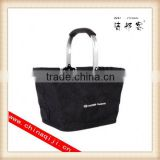 High quality double handle aluminum folding shopping basket wholesale                                                                         Quality Choice