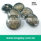 (#B6059/21mm) antique gold and gunmetal black two parts combined designer suit plastic buttons