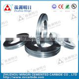 Cemented carbide ribbing rollers for making cold rib wire