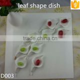 "leaf shape ceramic dishes white with gold-rim 4.75"" bone china snack dishes"