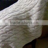 2012 Popular Fat Acrylic Cable Knitting Blanket