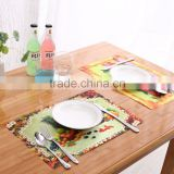 Large beer and tiger 3d table mat for cartoon display,adult fruit and vegetable placemats