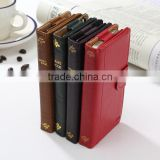Vintage Book classic retro leather wallet Case for Iphone 5 5s