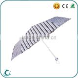 Hot sale 3 fold waterproof fabric for wholesale clear umbrella