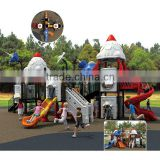 CE EN1176 standard rocket-style large outdoor slide with 29 optional site sizes