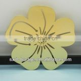 Wonderful round flower Shape Gold plated Bookmark gifts metal For Readers