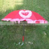 fashion heart shaped lace wedding umbrella