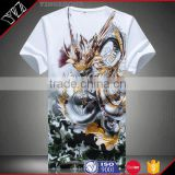 high quality customized t-shirt made hangtag100% cotton characters 3d digital print men t shirt wholesale
